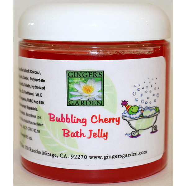 bath jelly cherry square