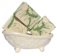 Lily Of The Valley Natural Handmade Soap Green White Cream