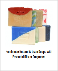 Handmade Natural Artisan Soaps with Essential Oils or Fragrance