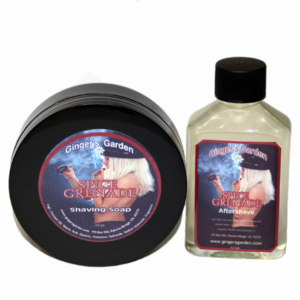 Spice Grenade Shaving Soap Aftershave Gift Set