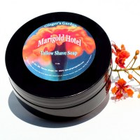 Shaving Soap Tallow Marigold Hotel currants, limes, nectarine, Oakwood, Patchouli, fruit and leather