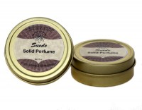 Natural Artisan Perfume Solid in a Golden Tin